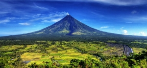 Mayon volcano in Alban